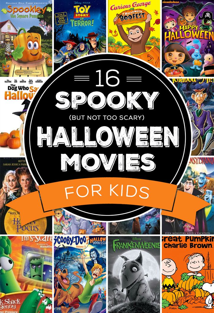 we love watching a few spooky but not too scary movies around halloween time
