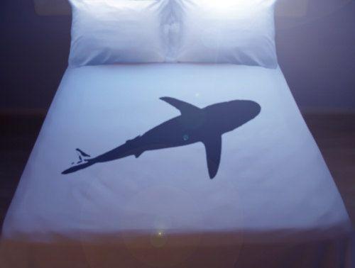 shark duvet cover sheet set bedding queen king size by duvetcover