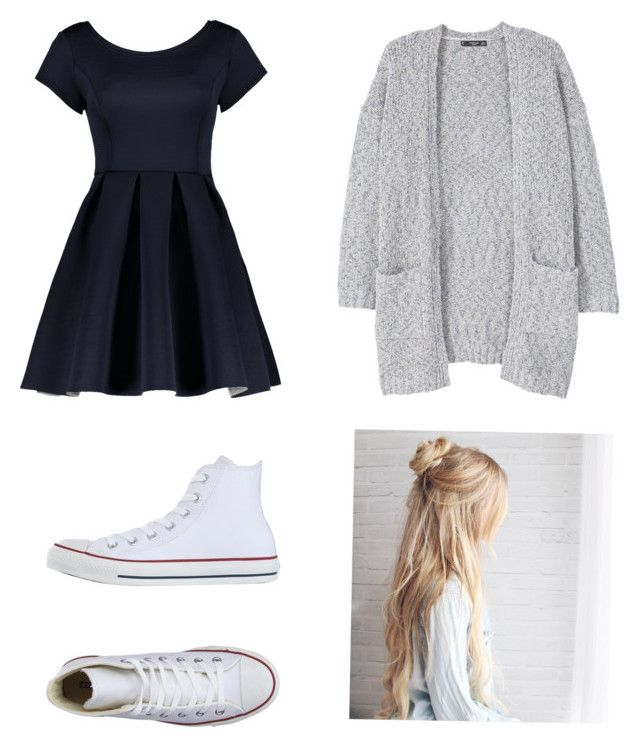 """"""":))"""" by amr5549 on Polyvore featuring MANGO and Converse"""