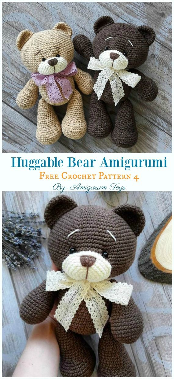 Free Amigurumi Bear Toy Softies Crochet Patterns #crochetamigurumifreepatterns