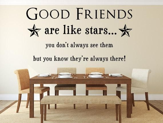 Good friends are like stars wall quotes custom wall decalsquote