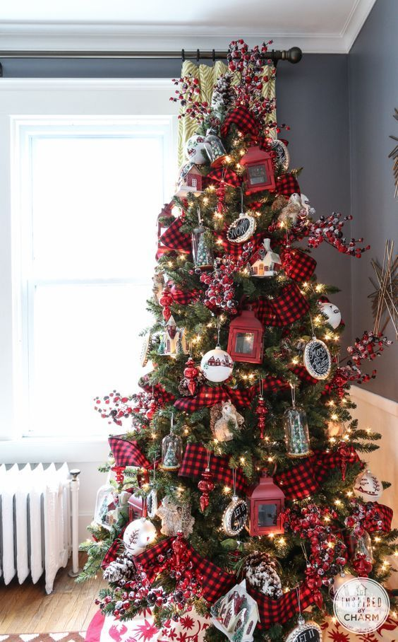 Curso Gratis De Navidad Como Aprender A Decorar Tu Arbol De Navidad Christmas Nav Plaid Christmas Decor Buffalo Plaid Christmas Decor White Christmas Decor