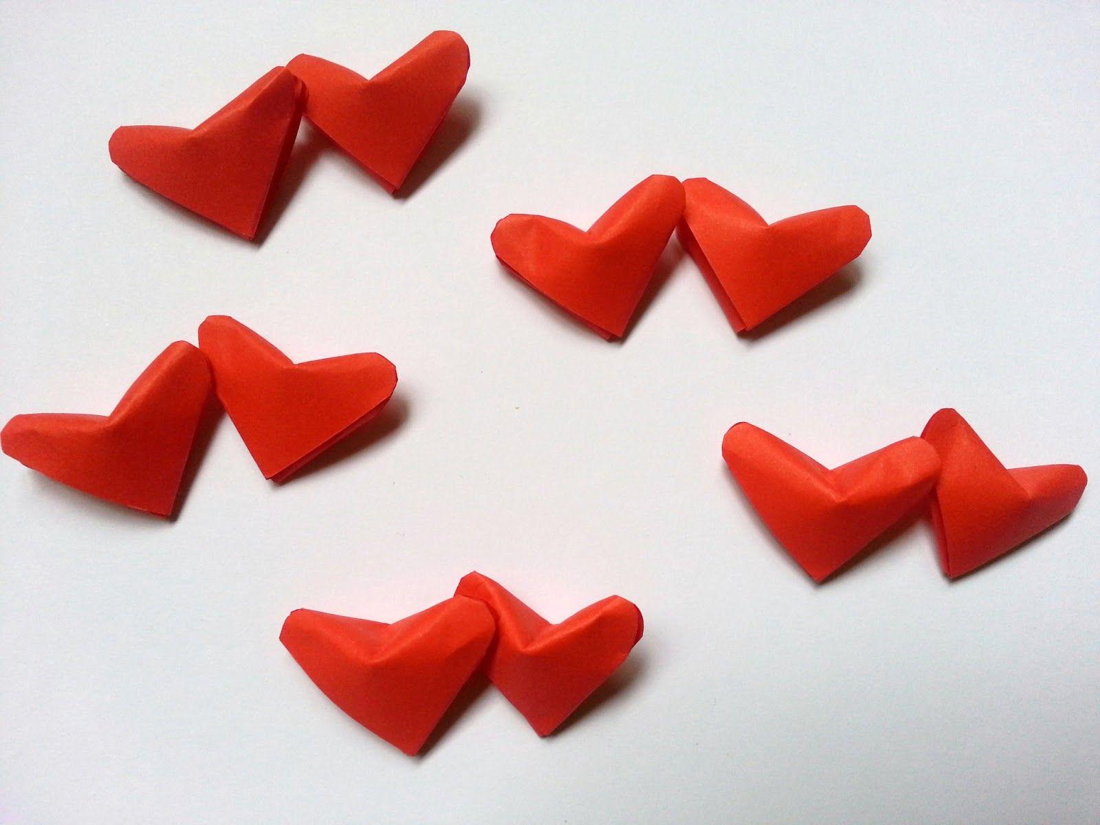3D Origami Hearts | Hearts | Pinterest | 3D Origami ... - photo#13