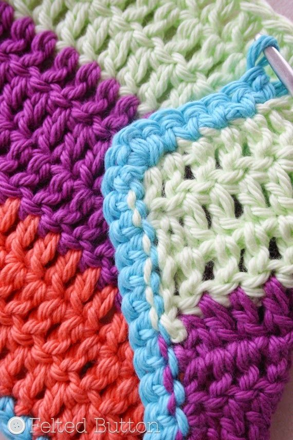 How To Crochet Clean Edges Along Rough Edges Tutorial By Felted