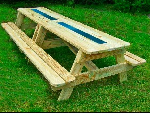 Ice Amp Drink Gutter Picnic Tables You Should Make The