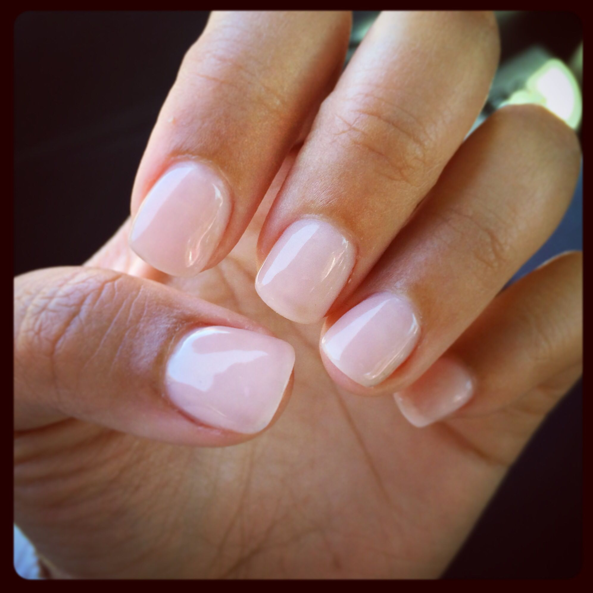So happy! Got exactly what I wanted...Natural nails, acrylic with ...