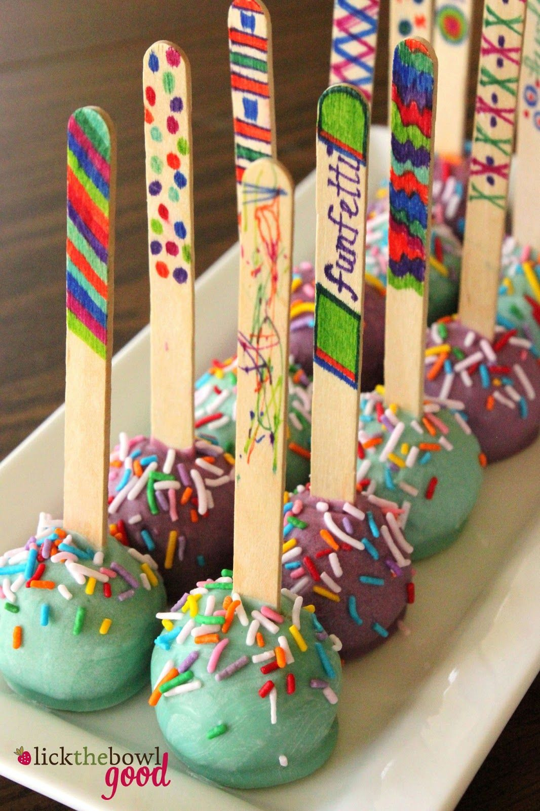 Lick The Bowl Good My Birthday Cakes and NoBake Cake Pops snack