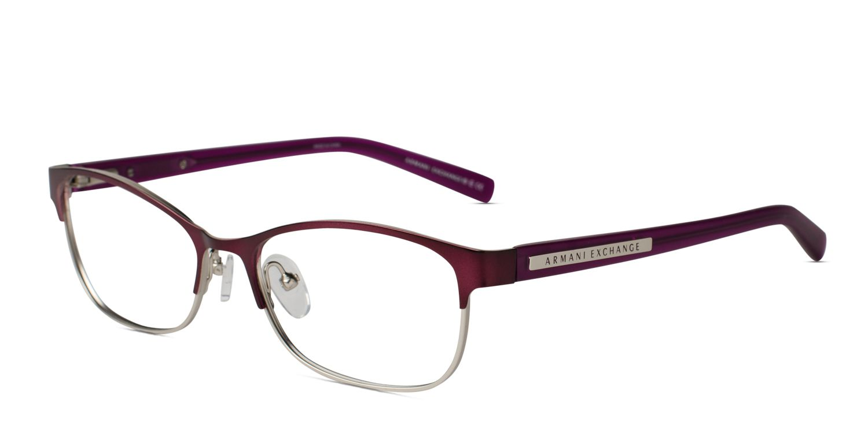 ca97efda1c Armani Exchange AX1010 Eggplant Prescription Eyeglasses