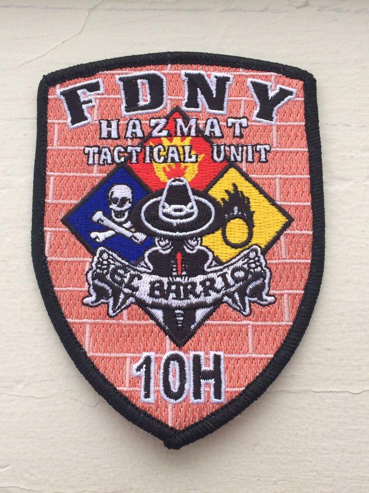 """FDNY EMS HAZMAT Tactical Unit 10H """"El Barrio"""" Patch"""