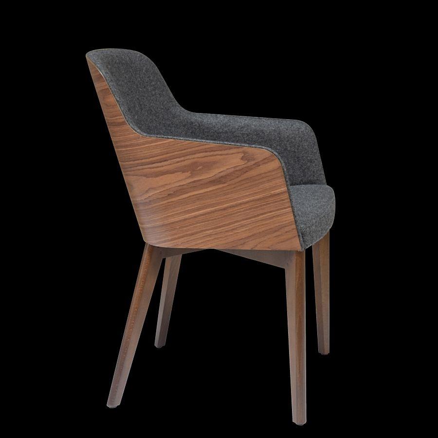 Delightful Hudson Armchair Wood Base. Metal Base, Chair With Walnut Veneer By Nuans  Design.