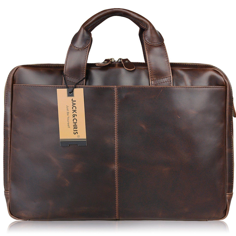a1d7d19d5df5 Messenger Bags · Men s Briefcase · Jack amp Chris®Leather Men s Briefcase  Laptop ...