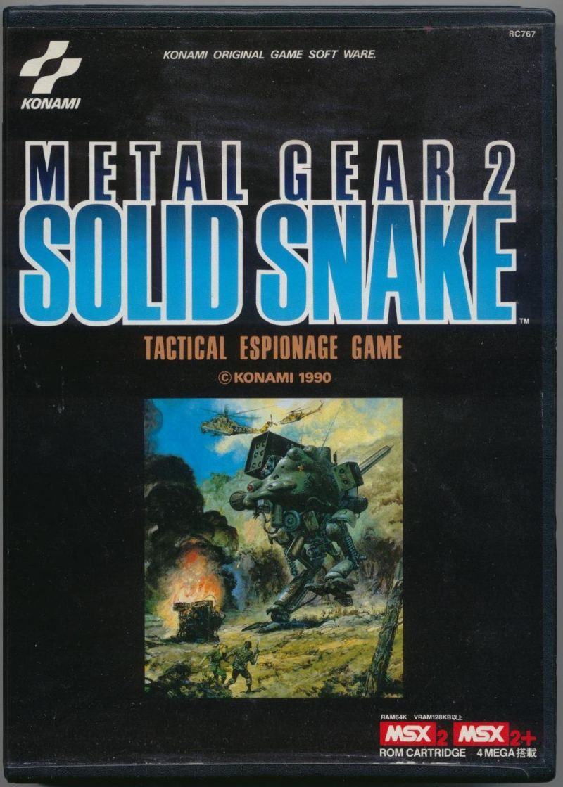 "Lord Arse! on Twitter: ""Title: Metal Gear 2: Solid Snake Publisher: Konami Platform: MSX2 Region: Japan Year: 1990  #OnThisDay #Retrogaming https://t.co/LLjz3j6up3"""