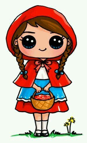 Chapeuzinho Vermelho Kawaii Desenhos Fofos Desenhos