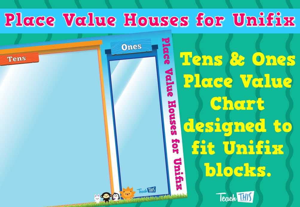 Place Value Houses for Unifix - Tens and Ones | Number & Place Value ...