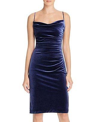 Laundry By Shelli Segal Ruched Velvet Dress Velvet Dress Dressy