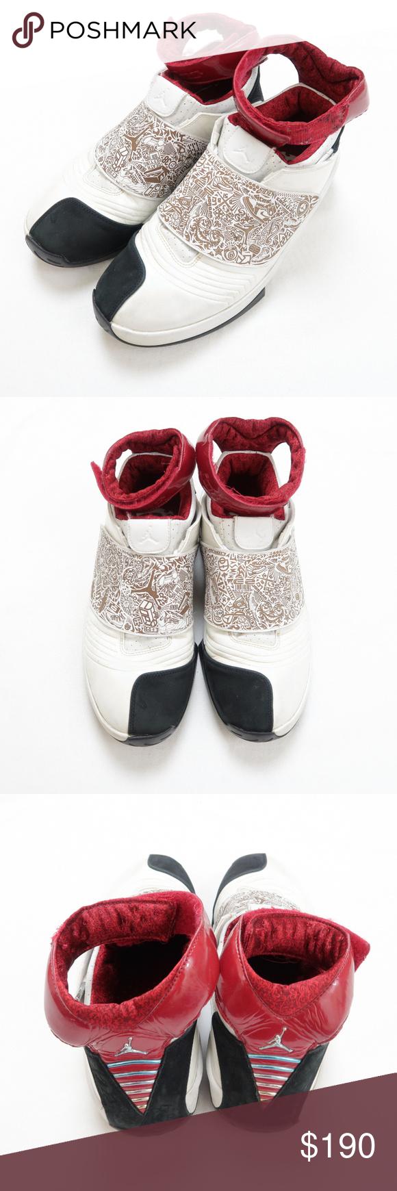 online store 334f1 f7b14 Air Jordan 20 White Varsity Red Black XX Size 10.5 Nike Air Jordan 20 shoes  from