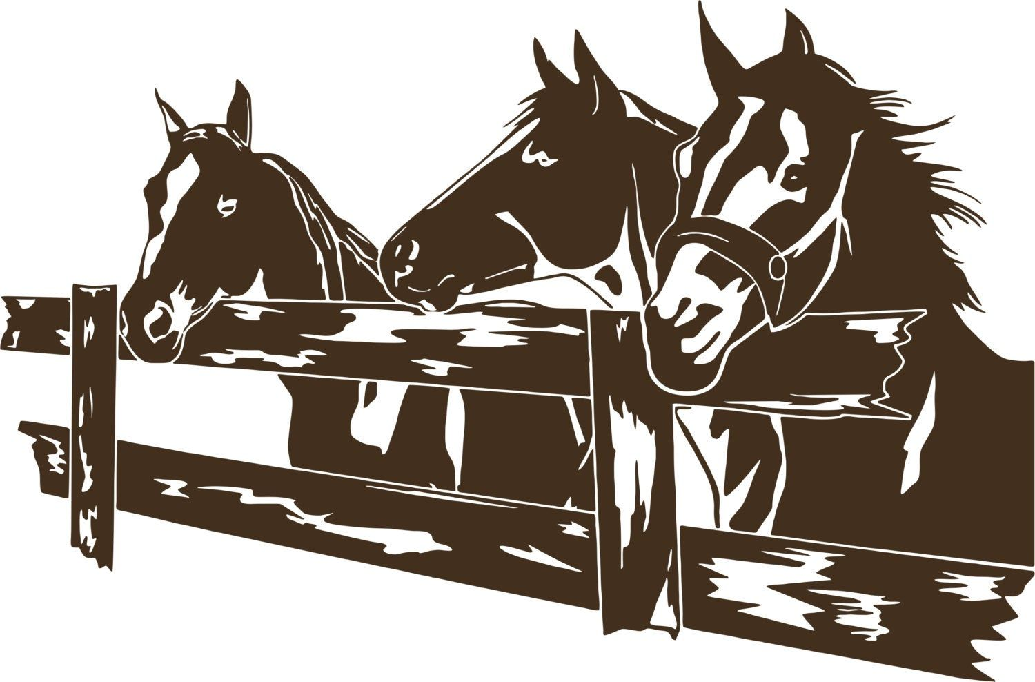 Horse Pasture Fence Rodeo Western Farm Pet Car Truck Window Etsy In 2020 Vinyl Decals Pet Car Vinyl Decal Stickers