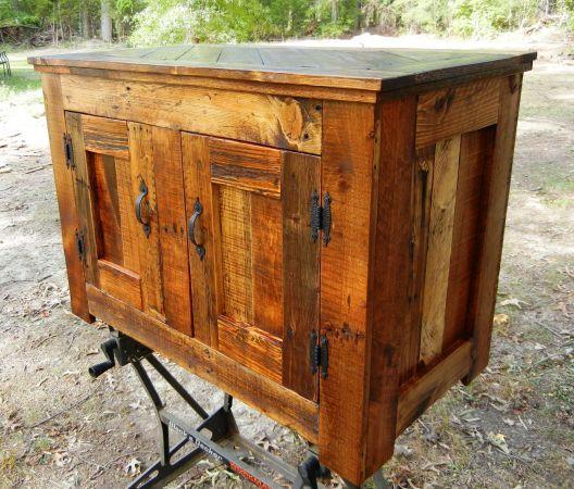 Attractive Pallet Wood Storage Cabinet