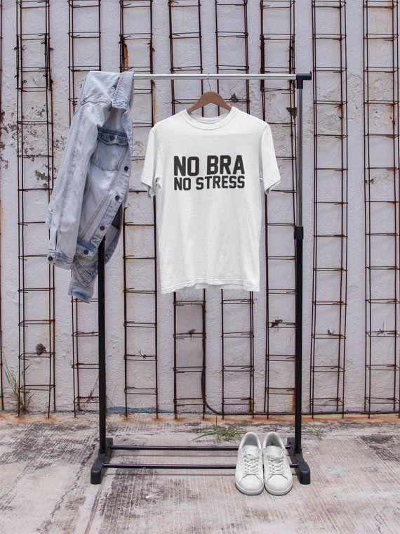 5f937a8e7 No Bra Club Tshirt, No Bra Clothing - Sexy Sayings Shirt, Womens Graphic  Tshirt, No Bra Club Clothes