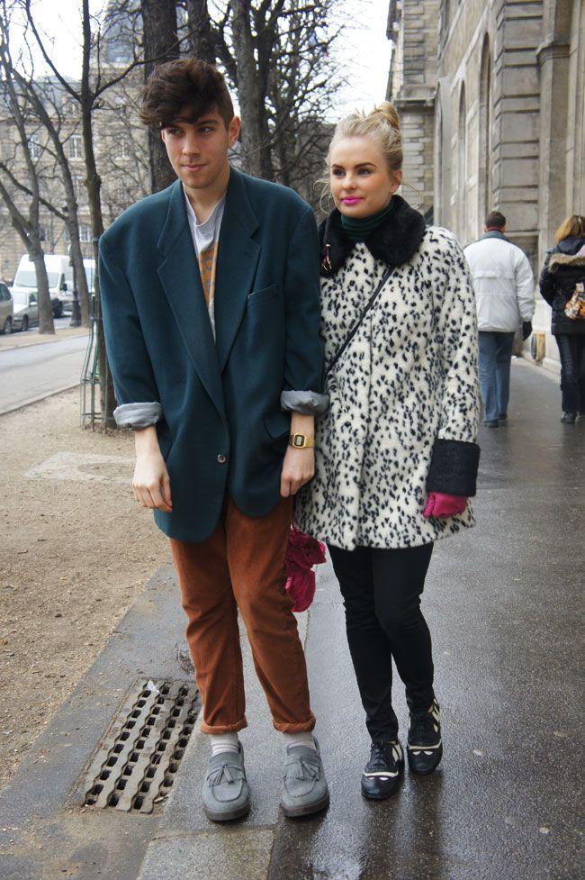 pareja muy a la moda