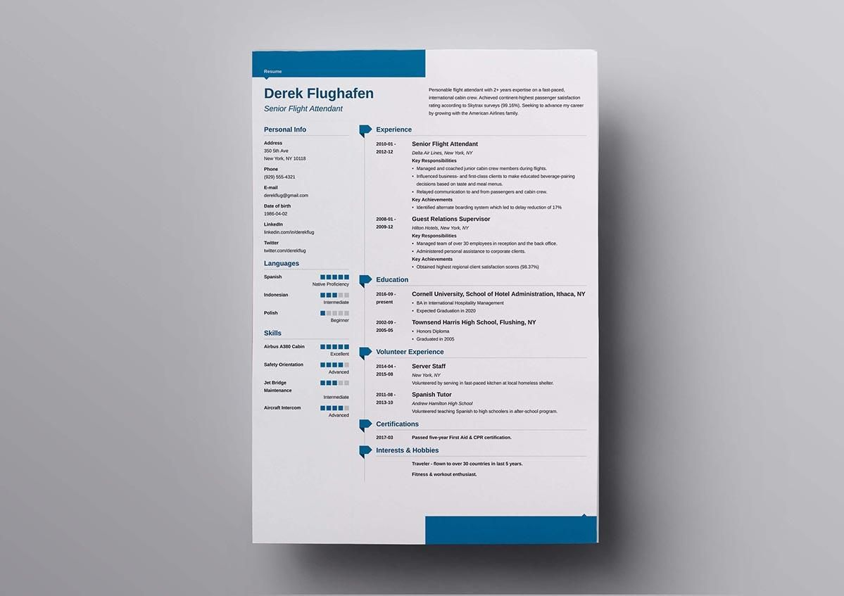 Modern Resume Format%0A     arrows preceding each section title  and an elegant design throughout  with many color combinations to choose from on this modern resume template