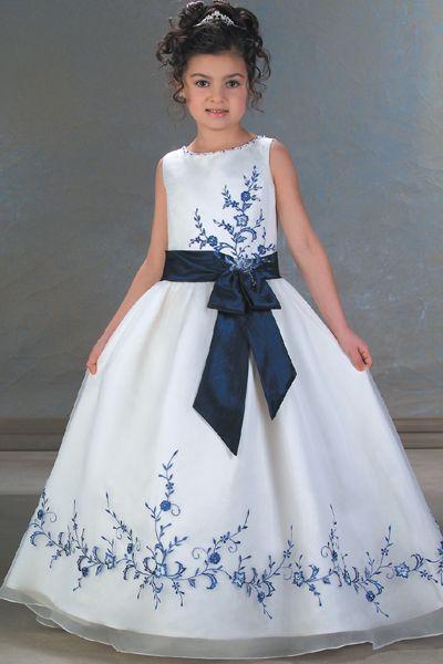Vestidos de nina para boda color blanco