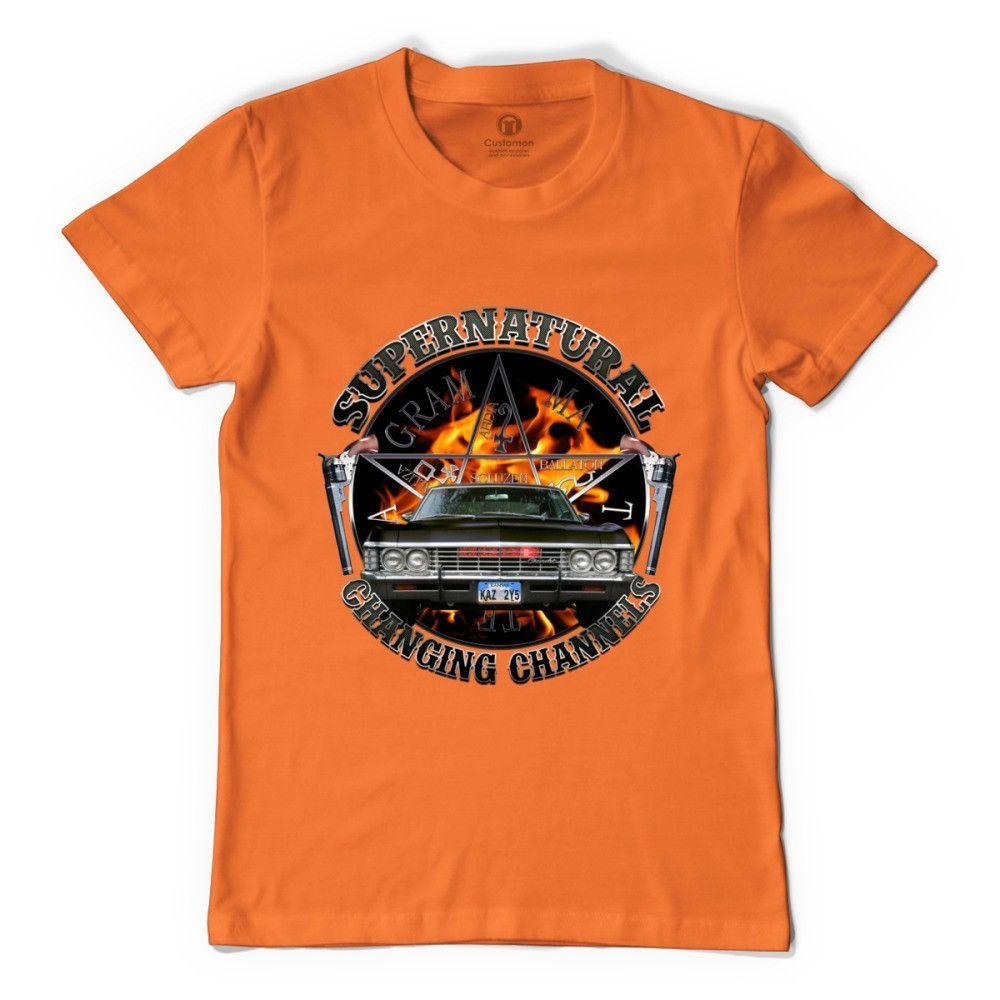 Supernatural Changing Channels Silver 2 Men's T-shirt