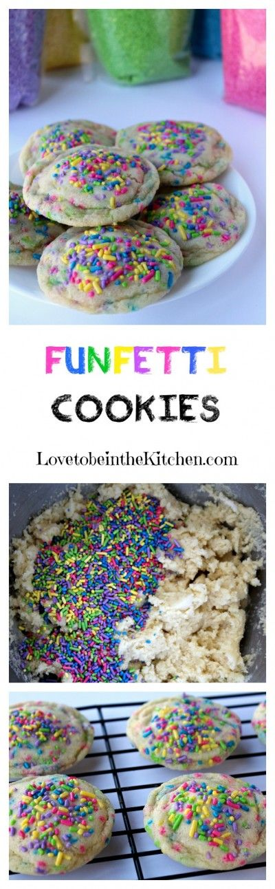 Funfetti Cookies- A soft and chewy sugar cookie that will make anyone smile!