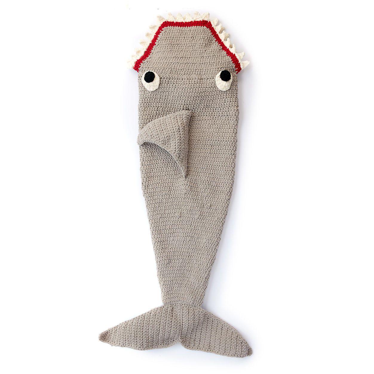 Bernat Fin-tastic Shark Snuggle Sack Gratis patroon | Haken ...