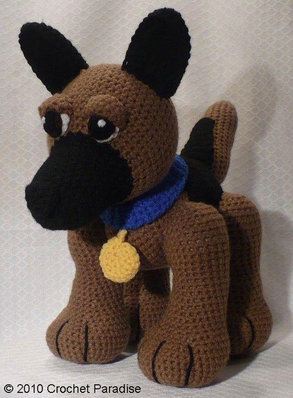 Lou the German Shepherd Crochet Pattern by CrochetParadise on Etsy ...