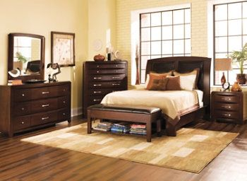 This Rodea 4-pc. king platform-look bedroom set brings the comfort ...