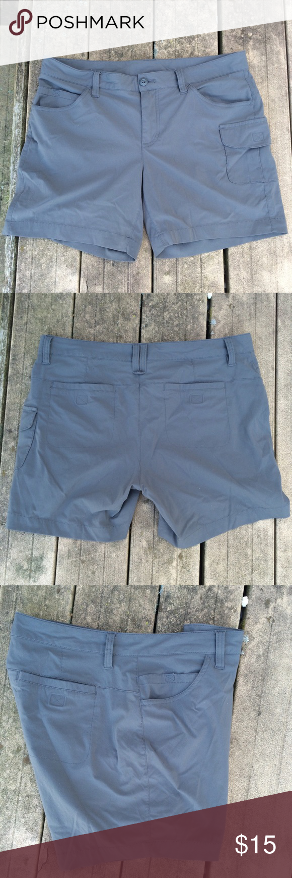 Flannel shirts and shorts  Eddie Bauer gray sporty shorts size   Flannel shirts Sporty and