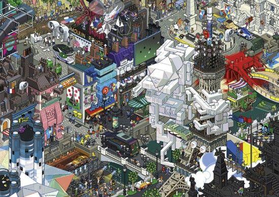 PARIS No. of pieces: 1500 Size: 80 x 60 cm Artist: eBoy