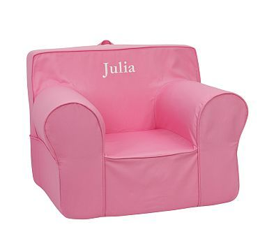 Bright Pink Oversized Anywhere Chair Potterybarnkids