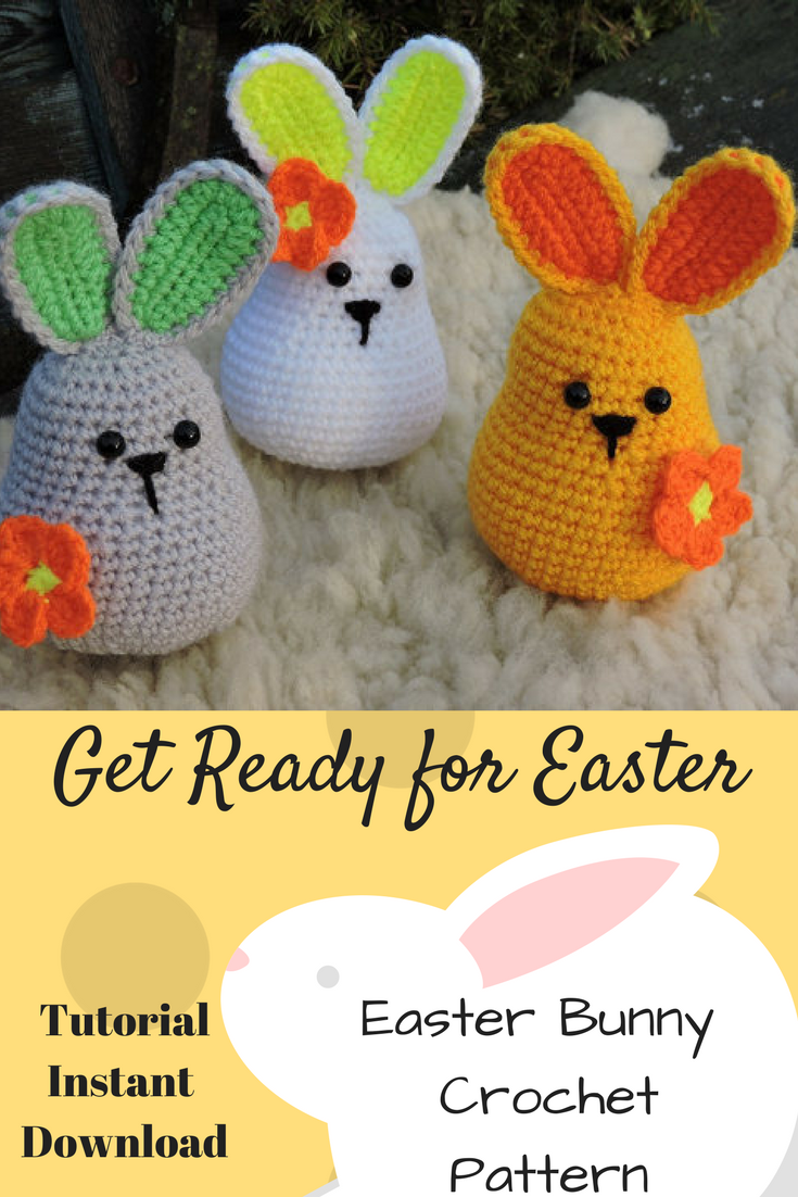 Cute Easter Decor Or For The Easter Basketigurumi Crochet Pattern