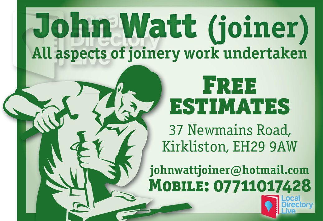 John Watt Joiner Kirkliston John Watt Joiner Free Estimate