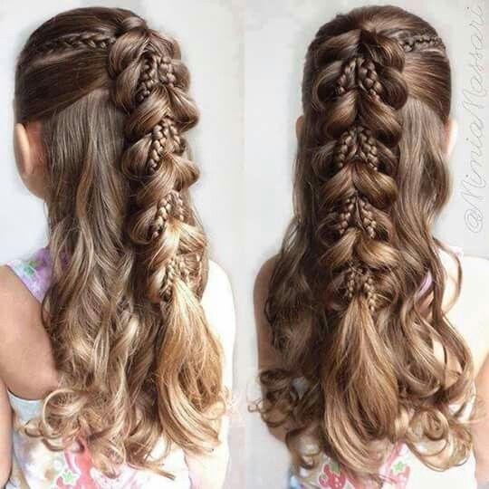 Half Up Half Down Pull Through Braid Little Girl Braid Hairstyles Cute Braided Hairstyles Girls Hairstyles Braids
