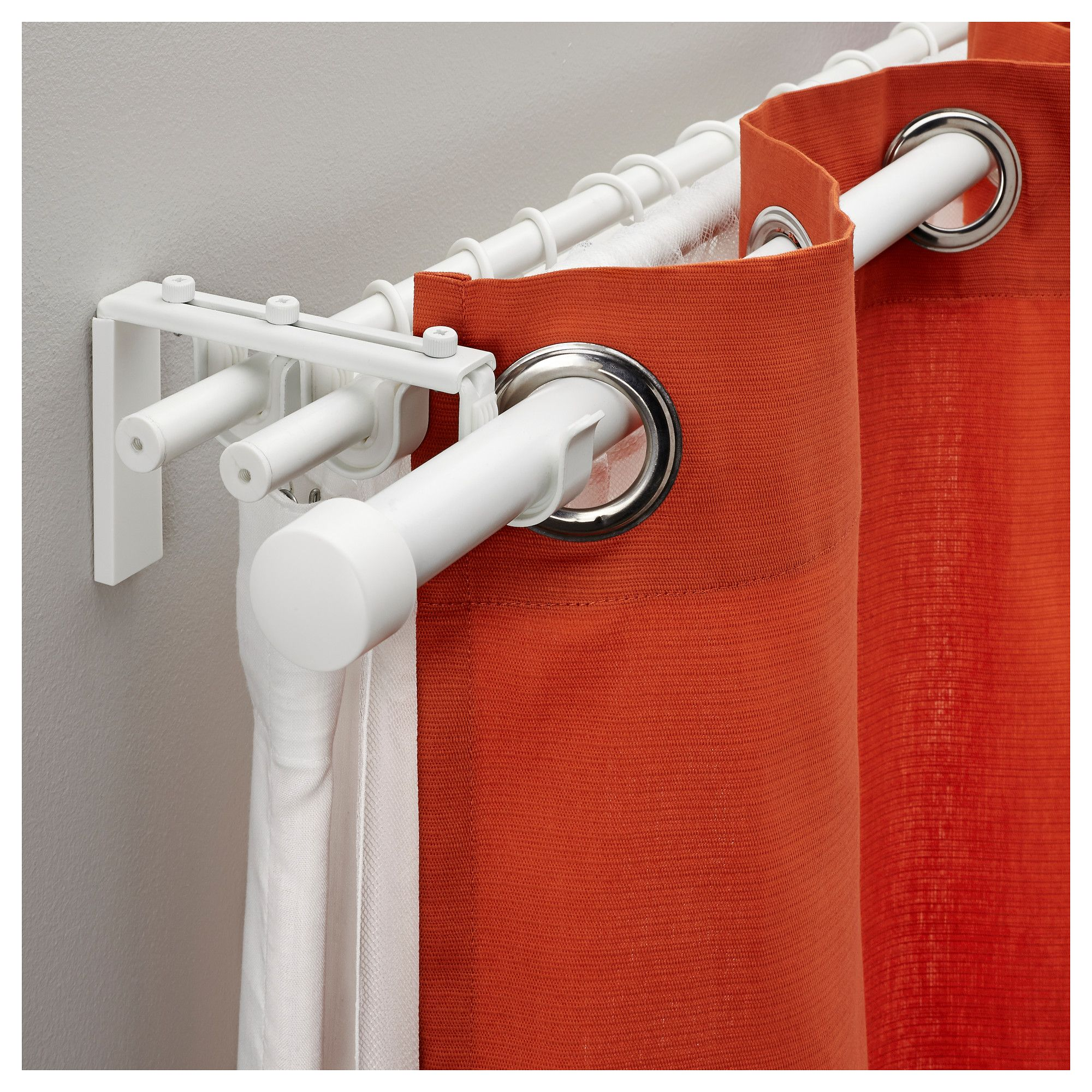 RÄCKA / HUGAD Triple Curtain Rod Combination