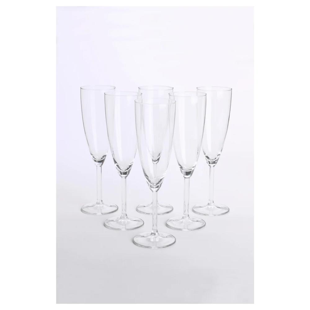 80-Champagne en plastique transparent verres flûtes-Party