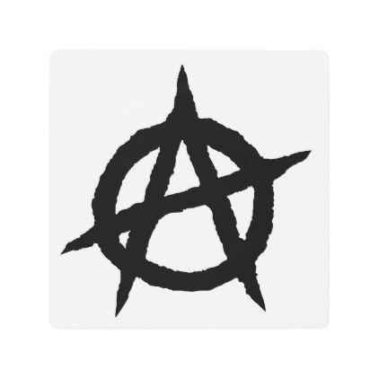 Anarchy Symbol Black Punk Music Culture Sign Chaos Black Gifts