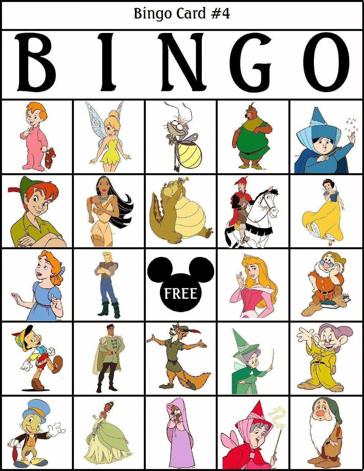 Bingo De Personajes Disney Para Imprimir Gratis Disney Bingo
