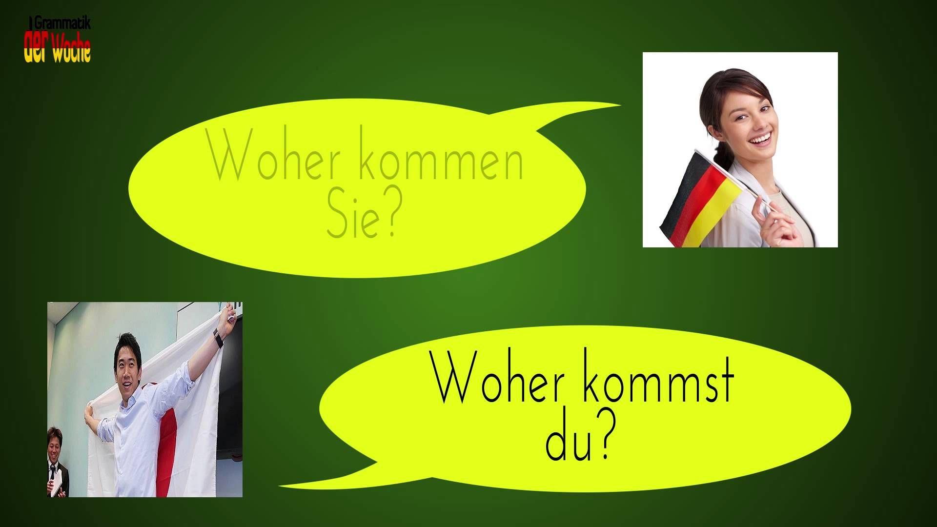 Deutsche Grammatik lernen A1 Niveau L01 German