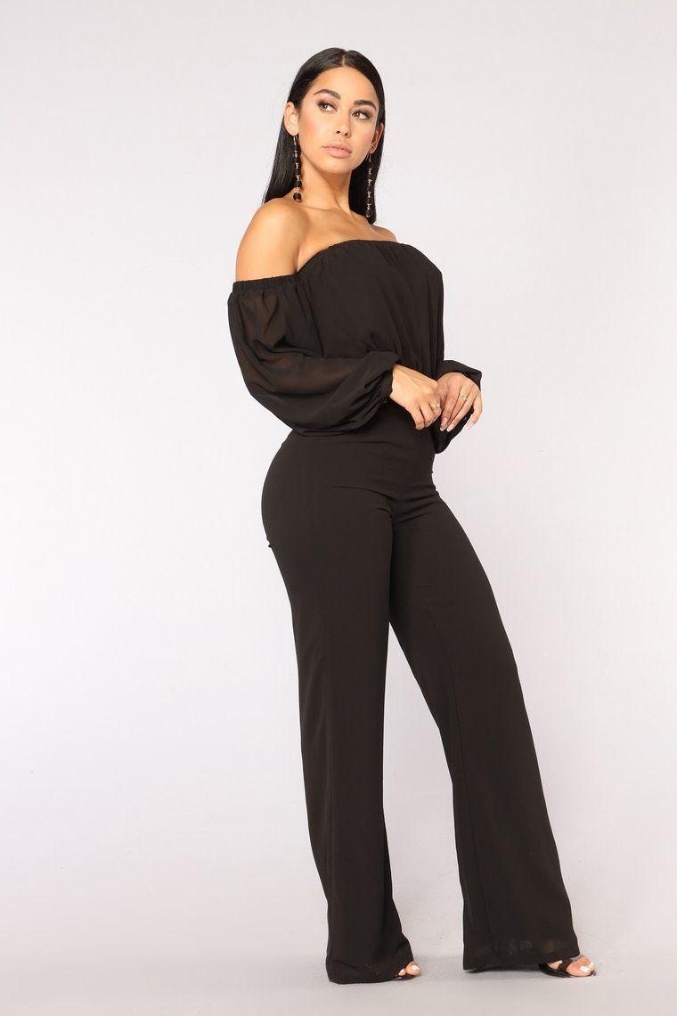 8b6739ec3cc4 Lorena Off Shoulder Jumpsuit - Black