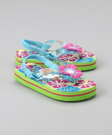 Blue Floral Lil Tropic Sandal by Hello Kitty on #zulily today!