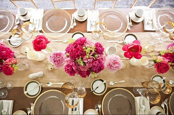 rustikale hochzeit tischdekoration ideen 2014 2015 hot pink tischblume dekoartikel rustikale. Black Bedroom Furniture Sets. Home Design Ideas