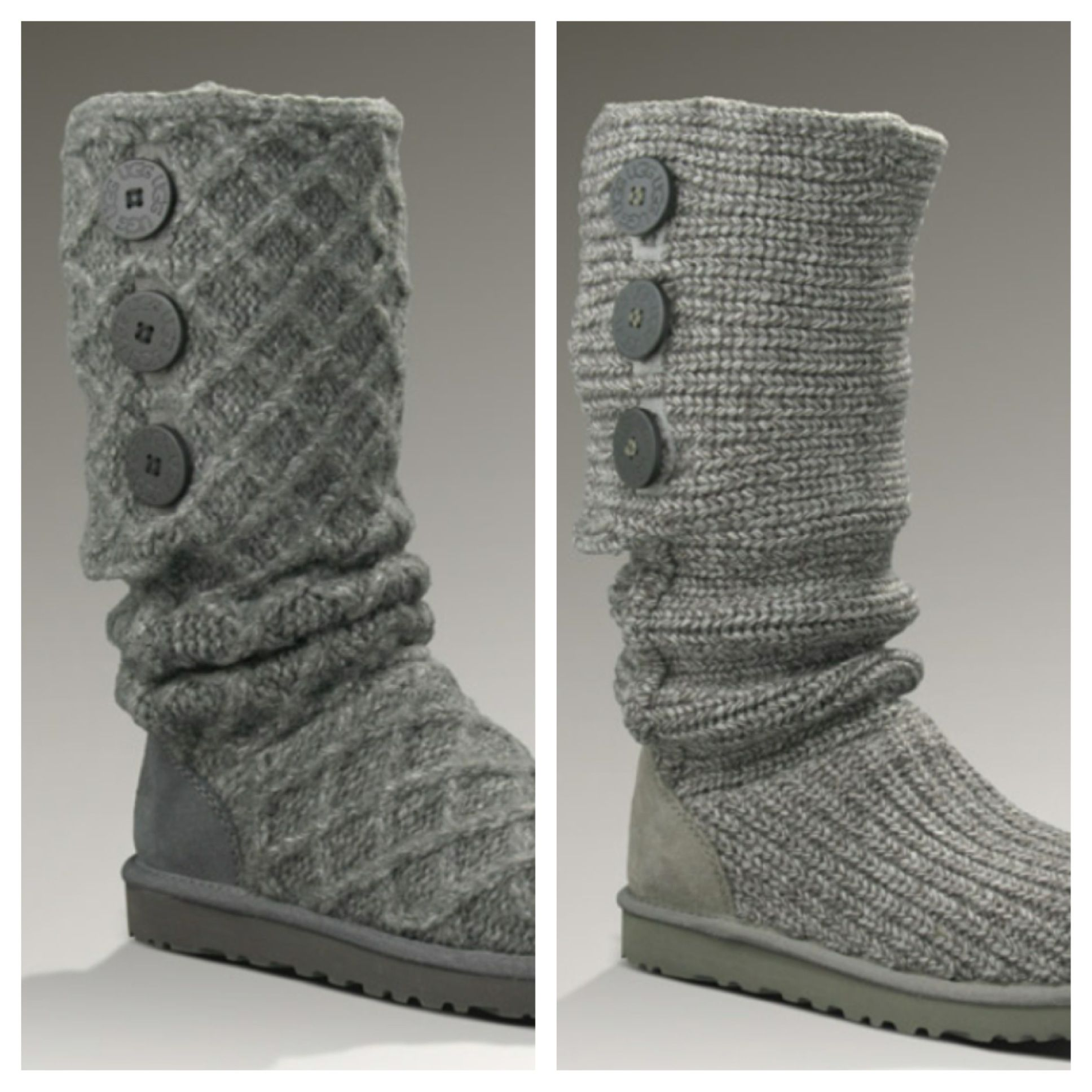 Grey Ugg Sweater Boots Cantdecide Christmaslist Clothing