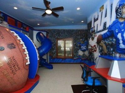 great football field kids room wall murals - new football theme
