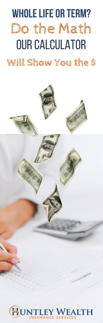 Term vs. Whole Life Insurance Cost & Cash Value
