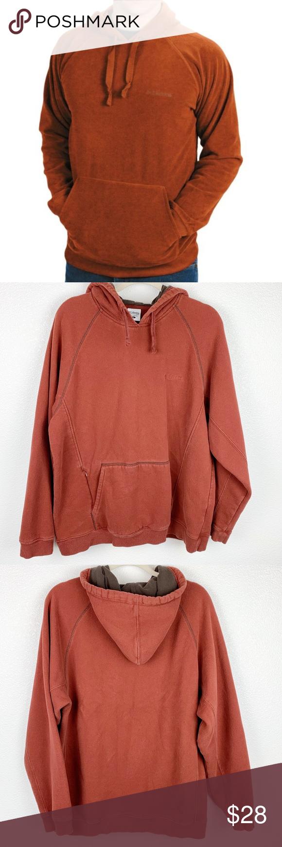 Columbia Burnt Orange Men S Hoodie Large Pullover Sweatshirts Hoodies Hoodies Men [ 1740 x 580 Pixel ]