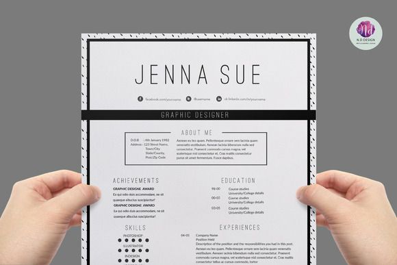 Modern  Chic Cv Template By Chic Templates On Creative Market